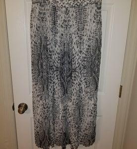 Snakeskin Maxi Skirt